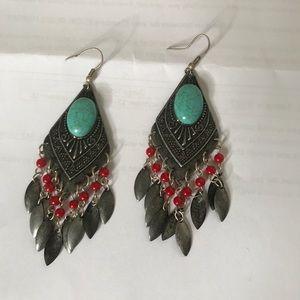 Aztec statement earrings